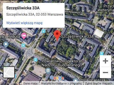 Mapa dojazdu - Szczęśliwicka 33a