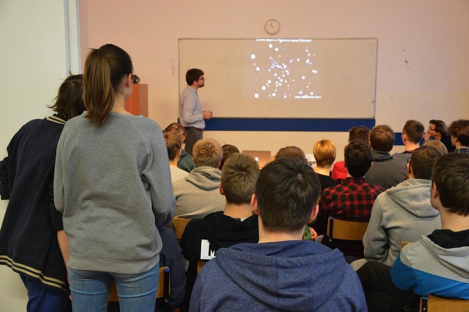 Spotkanie z astronomem - Łukaszem Wyrzykowskim