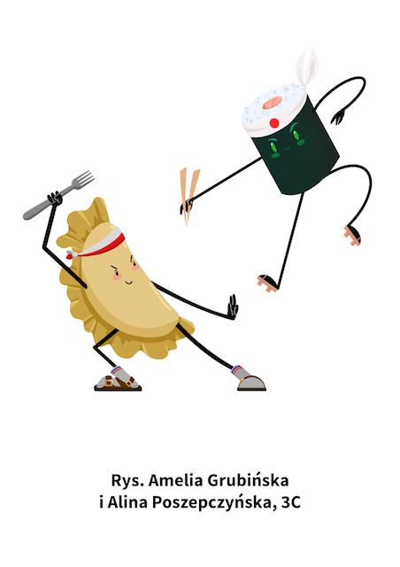 Amelia Grubińska i Alina Poszepczyńska (Pierog sushi)