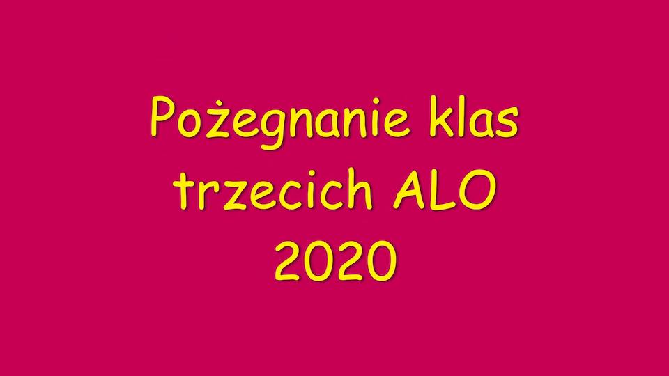 Pożegnanie klas trzecich 2020